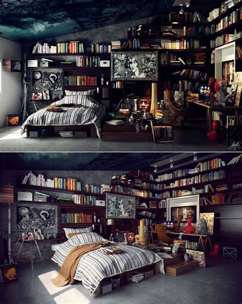 home design books 2014 modern library bedroom decor