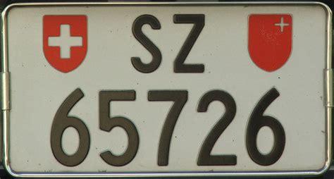 Motorrad Nummernschild Ch by Kfz Kennzeichen Schweiz
