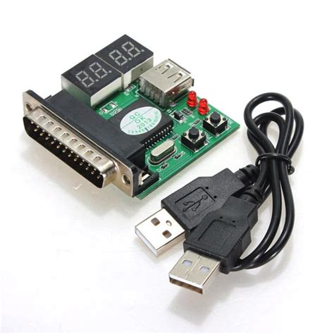 Pc Analyzer Card Usb 4 bit pc analyzer diagnostic motherboard lpt tester usb
