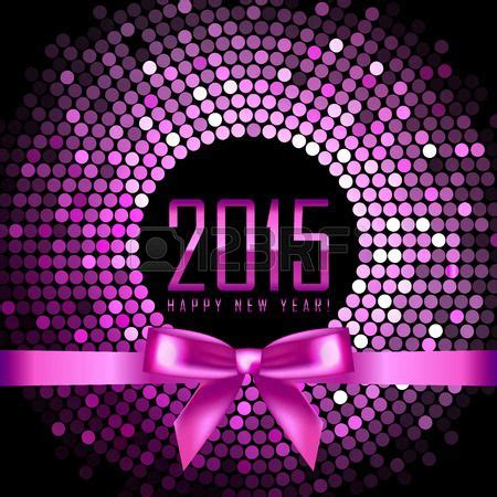 Felice Ribbon Top vector happy new year 2015 background with disco lights