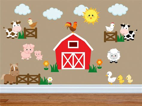 childrens animal wall stickers childrens farm animal wall stickers 28 images room