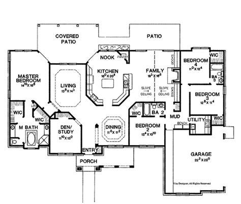 amazing floor plans mediterranean style house plan 4 beds 3 baths 2816 sq ft