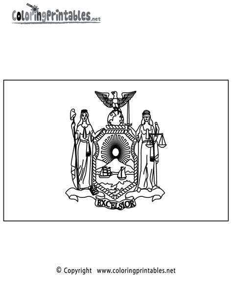 new york flag coloring page a free travel coloring printable