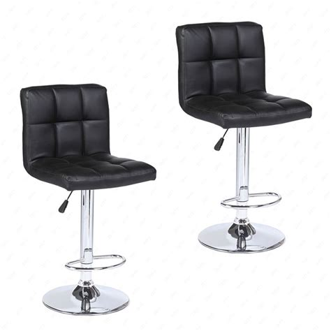 Leather Adjustable Bar Stools by Set Of 2 Modern Design Bar Stools Swivel Leather