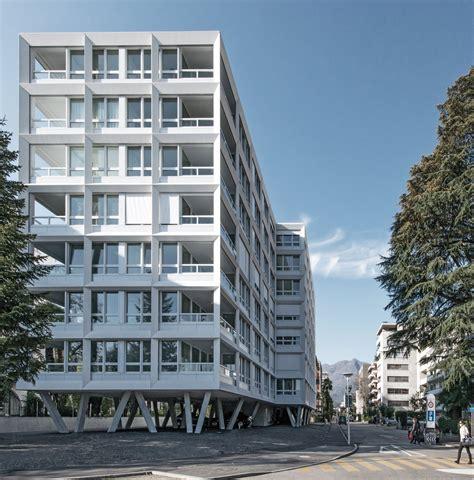 wandle treppe wohnanlage in locarno raster am see architektur und