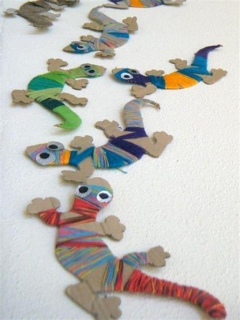 crafts for boys leuke dieren met garen textiel wool