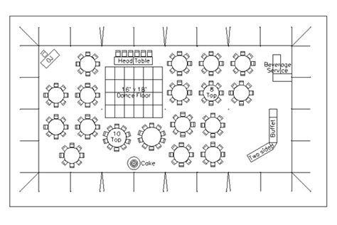 floor plan wedding cad tent layout for wedding reception with 150 guests in