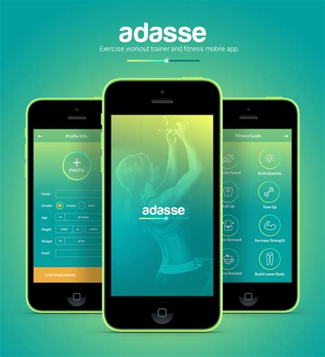 mobile design adasse workout mobile app by naresh kumar design ideas