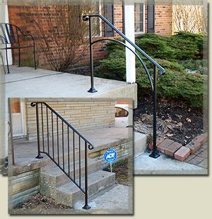 outdoor banister railing iron handrails for outdoor steps the big back yard project pinterest house