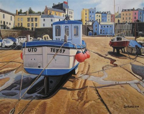 fishing boats for sale south wales uk painting tenby harbour south wales dyfed fishing boats
