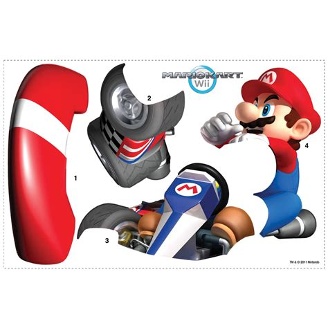 mario kart wall stickers mario kart wii wall sticker stickers for wall