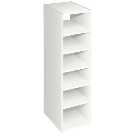 closetmaid wood shelf closetmaid selectives 41 1 2 in white stackable 7 shelf