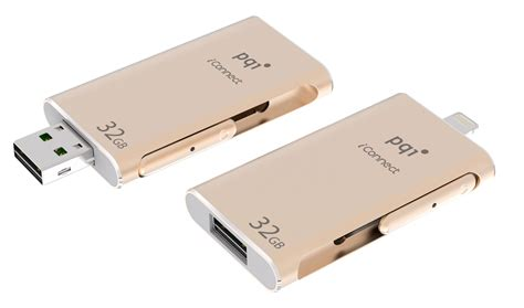 Otg For Iphone Pqi I Connect Usb 3 0 64gb 32gb pqi iconnect gold otg usb backup drive for iphone ipod with lightning connection