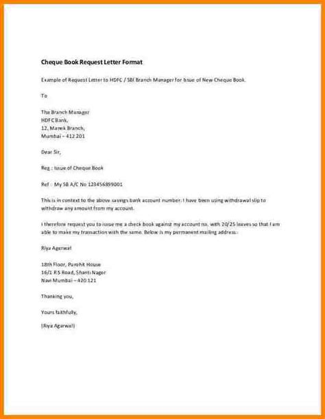Bank Manager Letter Format Request Letter Format In Bank