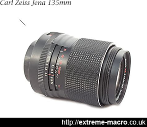 carl zeiss jena 135mm f3.5 used as tube lens for extreme macro
