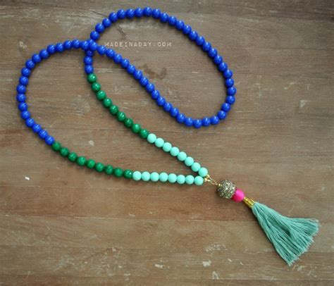how to make steunk jewelry tutorial diy beaded tassel necklaces