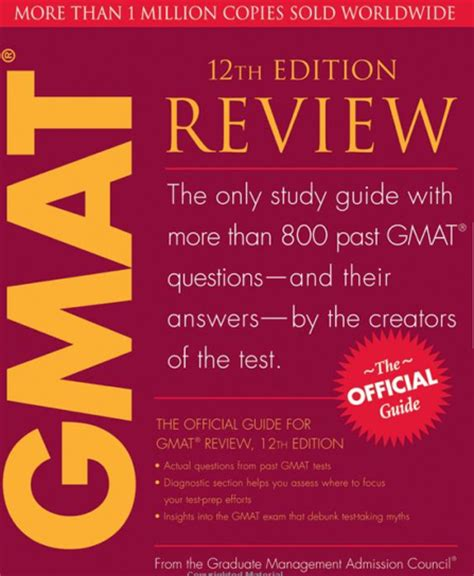 Mba Gmat Study Guide by Official Guide Gmat Prep Book Mba Student Reccommended