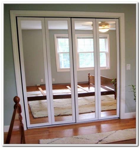 cheap mirrored bifold closet doors home decor
