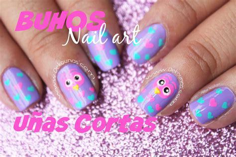 imagenes de uñas pintadas de buhos decoraci 243 n de u 241 as de b 250 hos para u 241 as cortas owl nail