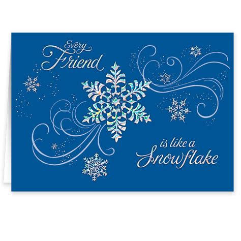 personalized snowflake christmas cards walter drake