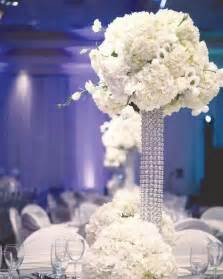 bling wedding centerpiece with white