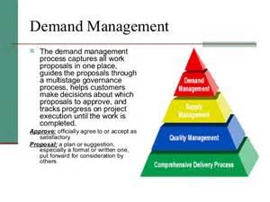 demand management plan template demand management