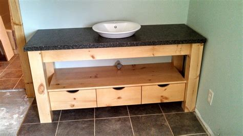 Knotty Pine Vanity Custom Knotty Pine Post And Beam Vanity W Semi Recessed Basin By Ziegler Woodwork And Specialty