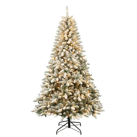 menards colorado flocked pine smith 7 pre lit colorado flocked pine with 600 clear lights