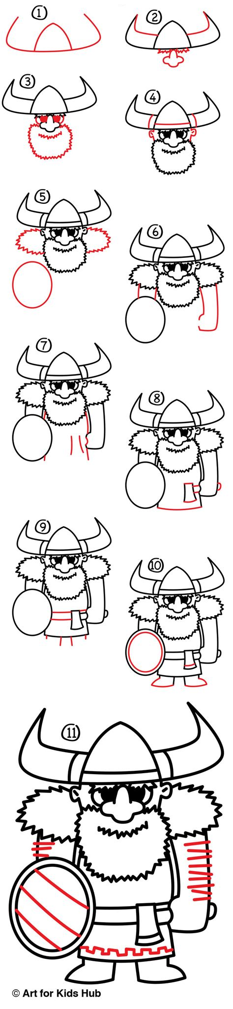 how to draw a viking boat step by step how to draw a viking art for kids hub