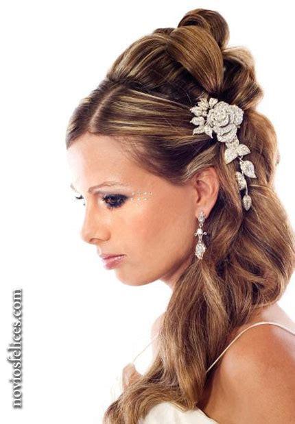 imagenes de peinados y vestidos de novia peinados de novia semirecogidos noviosfelices