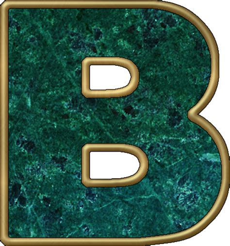 the b presentation alphabets green marble letter b