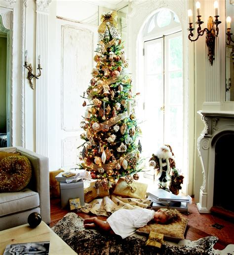 show me thin decorated trees and tree flower tree trees in the corner and