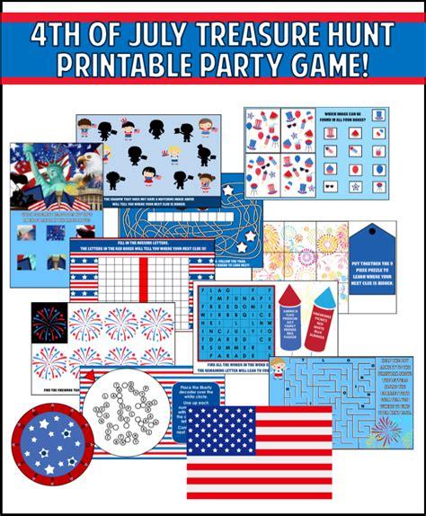 printable 4th of july games printable 4th of july treasure hunt game