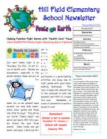 Free Elementary School Newsletter Template by Best Photos Of Sle School Newsletter Templates Free