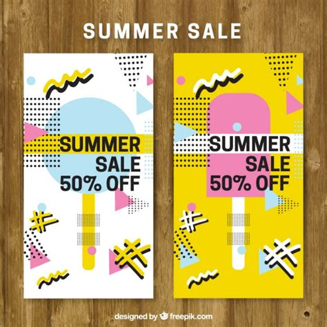 summer sale brochure in style vector free