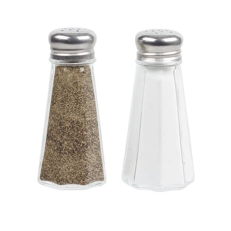salt and pepper shakers 3 oz mushroom top paneled salt and pepper shakers 4 pack