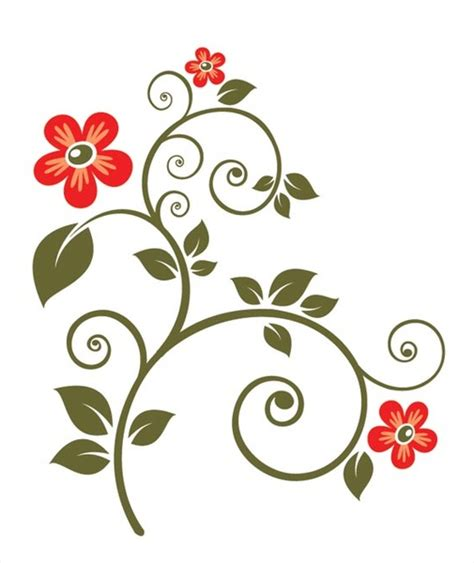 Sepatu Flat Fashion Flower Transparant Rj802 ornate flower vector free vector in encapsulated