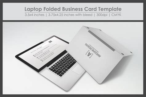 Computer Business Card Templates by Laptop Folded Business Card Template Business Card