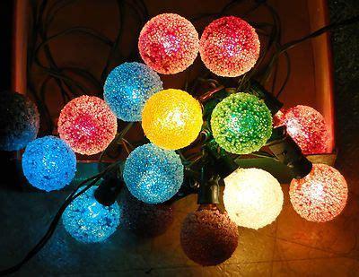vintage ge lighted d30 snowball light bulbs string sleeves box ebay decor