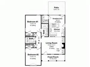 How To Find House Plans Online Bungalow House Plan With 1000 Square Feet And 2 Bedrooms