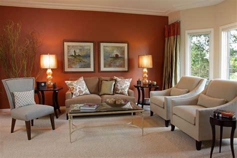 burnt orange accent wall livingroom google search