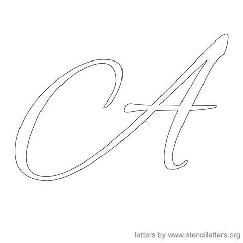 Cursive Alphabet Template a in cursive new calendar template site