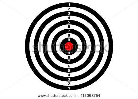 Archery Target Stock Images Royalty Free Images Vectors Shutterstock Shooting Target Template