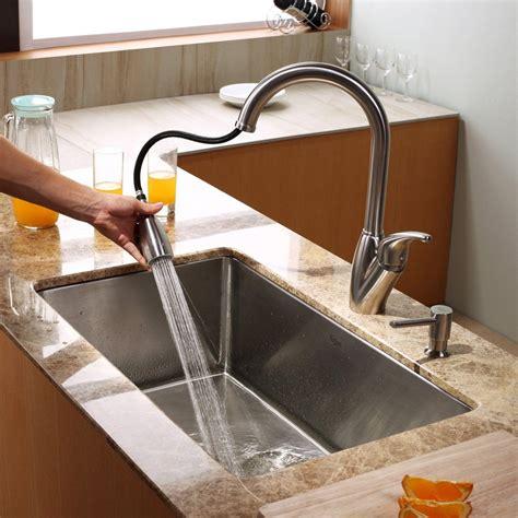 kraus 30 inch undermount sink kraus khu10030kpf2120sd20 30 inch undermount single bowl