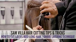 how to cut your hair like robach how to cut layers in long hair the ombre layering