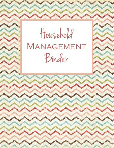 day 1 household management binder cover and spine laura