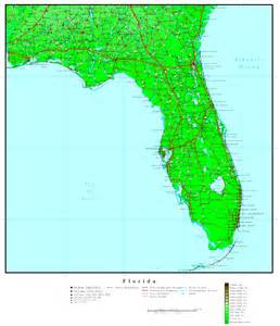 map of florida florida elevation map