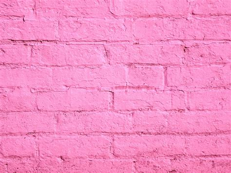 pink brick wall pink painted brick wall free stock photo public domain