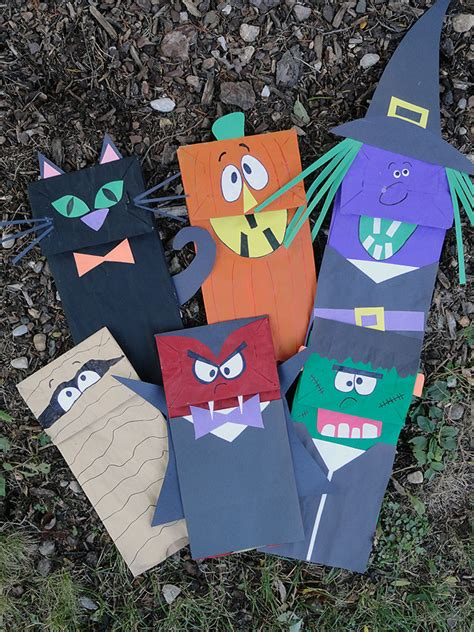 Brown Paper Bag Crafts For Preschoolers - paper bag puppets make and takes