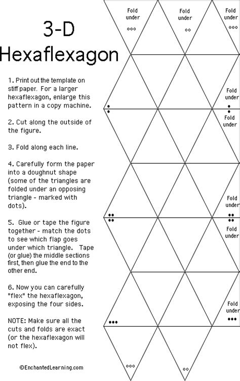 hexaflexagon template enchantedlearning com